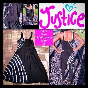 ❤️SALE Justice Tie Dye Cover Up Fringe Dress 16 XS